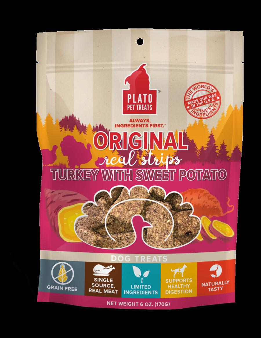 Plato Treat Original Strips Dog (EOS) Turkey & Sweet Potato