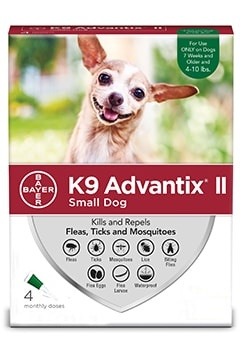 Advantix II Dog 4-10# Small