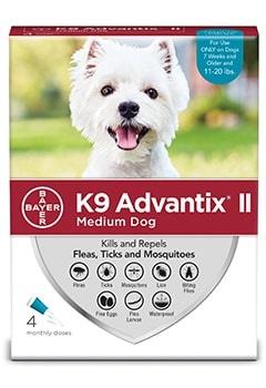 Advantix II Dog 11-20# Medium