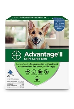 Advantage II Dog 55#+ XLarge