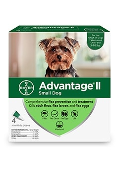 Advantage II Dog 3-10# Small