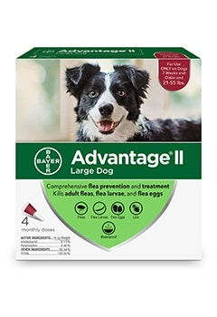 Advantage II Dog 21-55# Large