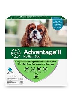 Advantage II Dog 11-20# Medium