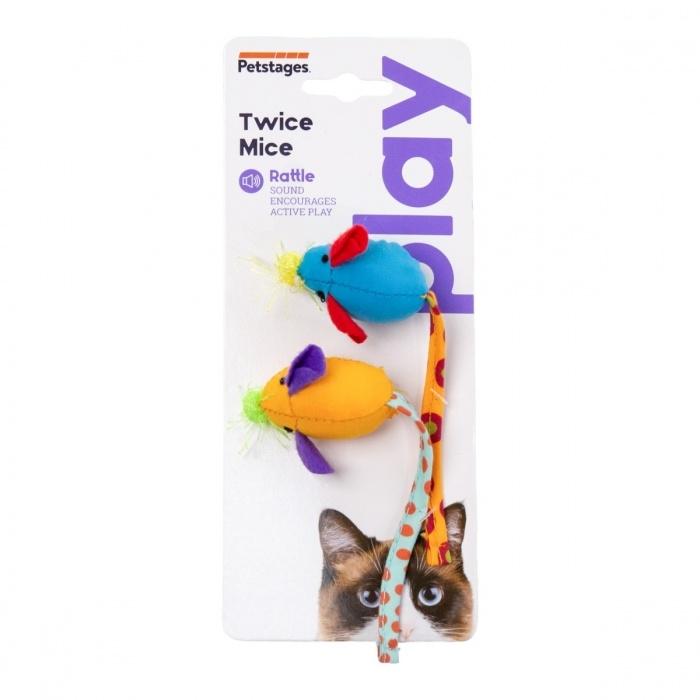 Petstages Cat Toy Catnip Chew Mice