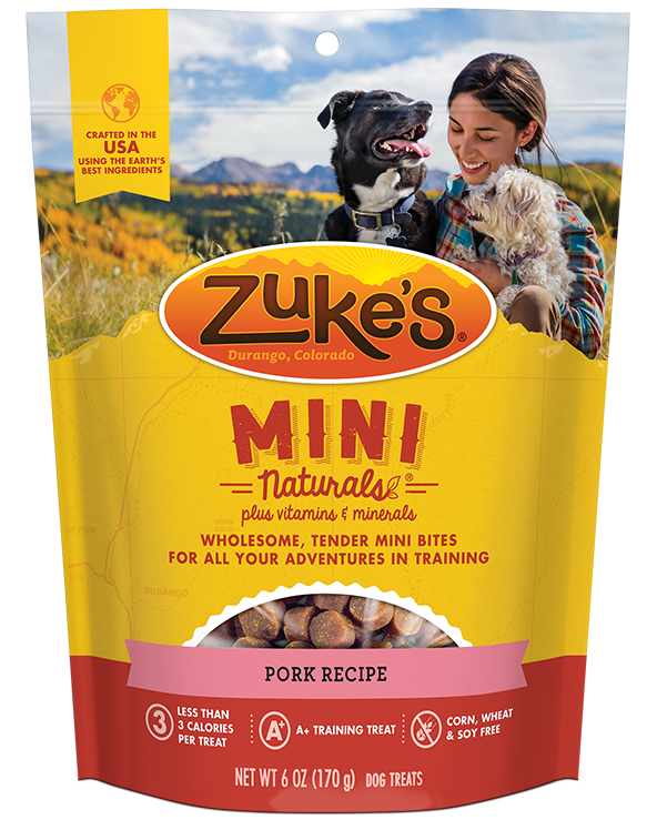Zukes Treat Dog Natural Mini Pork