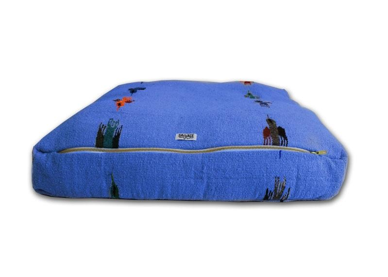 Salvage Maria Salvage Maria Bed RECTANGULAR THUNDERBIRD BLUE