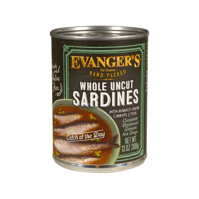 Evanger's Dog Food Can Whole Uncut Sardines