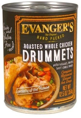 Evanger's Dog Food Can Grain Free Chicken Drummets
