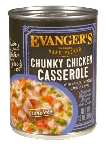 Evanger's Dog Food Can Grain Free Chicken Casserole