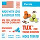 West Paw Treat Toy Tux Tangerine