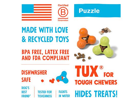 West Paw Treat Toy Tux Granny Smith