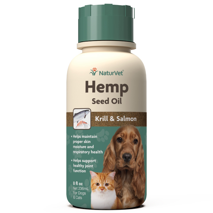 NaturVet Hemp Krill & Salmon Oil Liquid 16oz