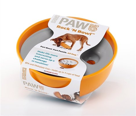 Paw 5 Paw 5 Rock 'N Roll Feeder Bowl - Orange