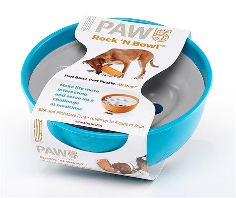 Paw 5 Paw 5 Rock 'N Roll Feeder Bowl - Blue