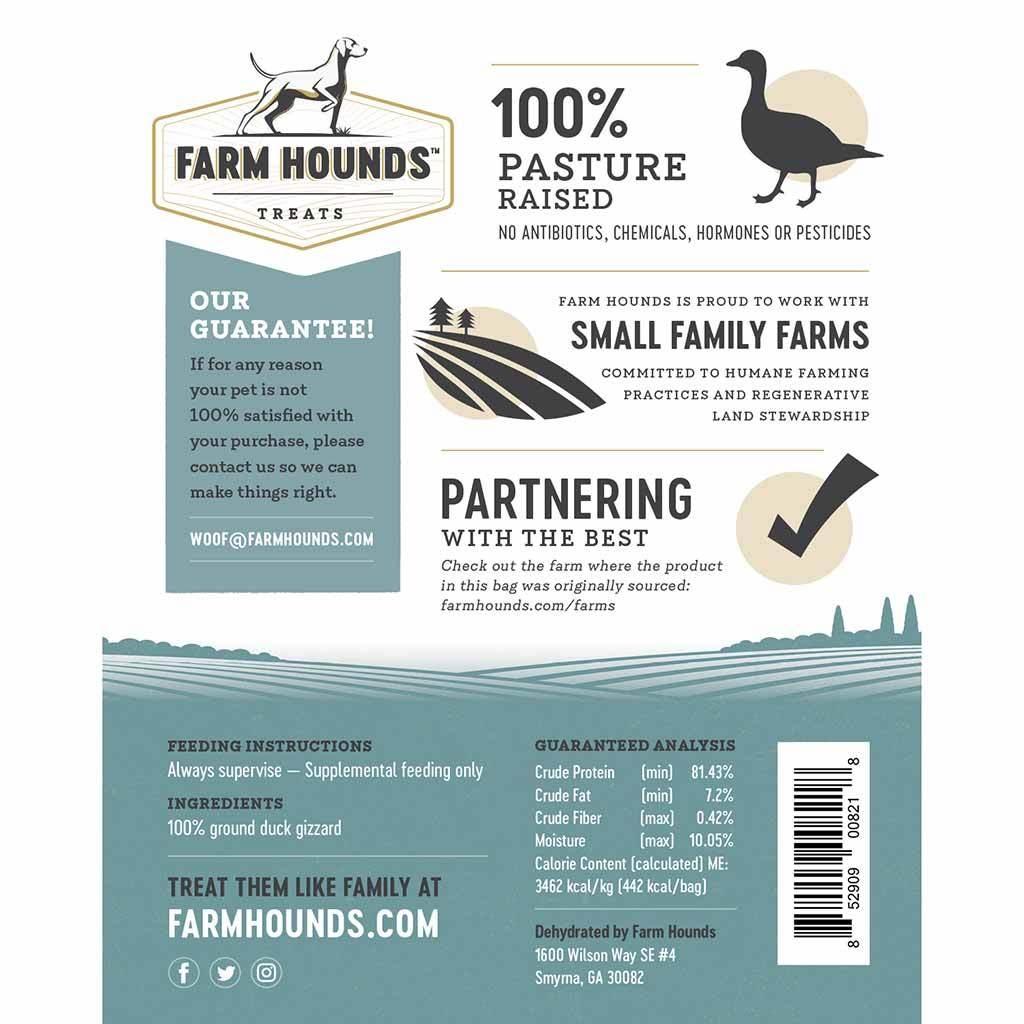 Farm Hounds Farm Hounds Duck Gizzard Sticks 4.5oz