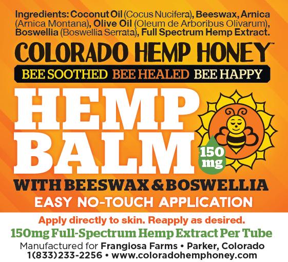Colorado Hemp Honey Colorado Hemp Honey Beeswax & Boswellia Hemp Balm 5oz