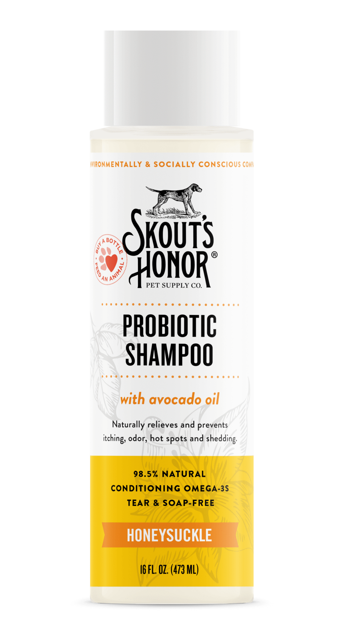Skout's Honor Skout's Honor Probiotic Shampoo - Honeysuckle 16oz