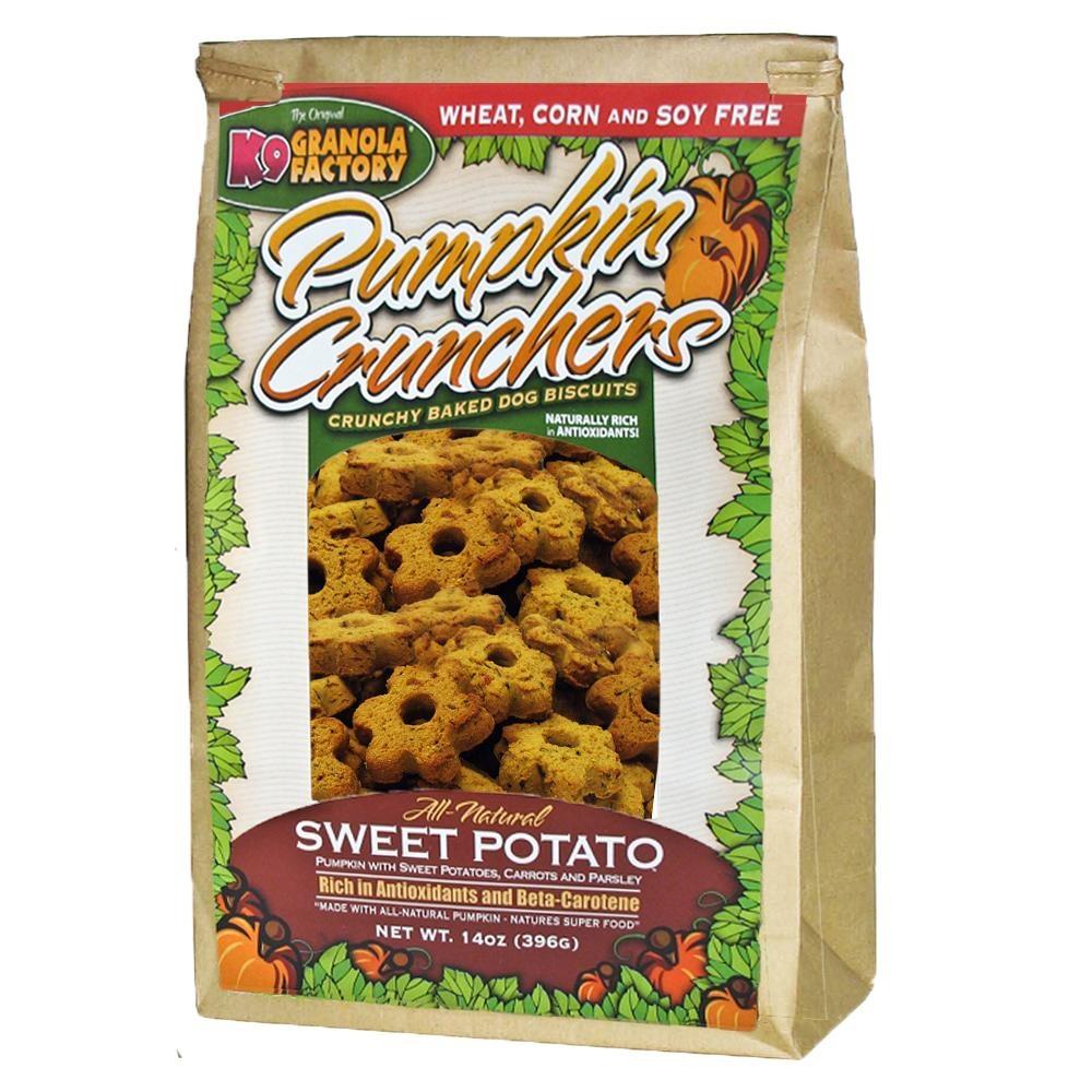 k9 Granola Factory K9 GranolaPumpkin Crunchers Sweet Potato with Carrot & Parsley 14oz