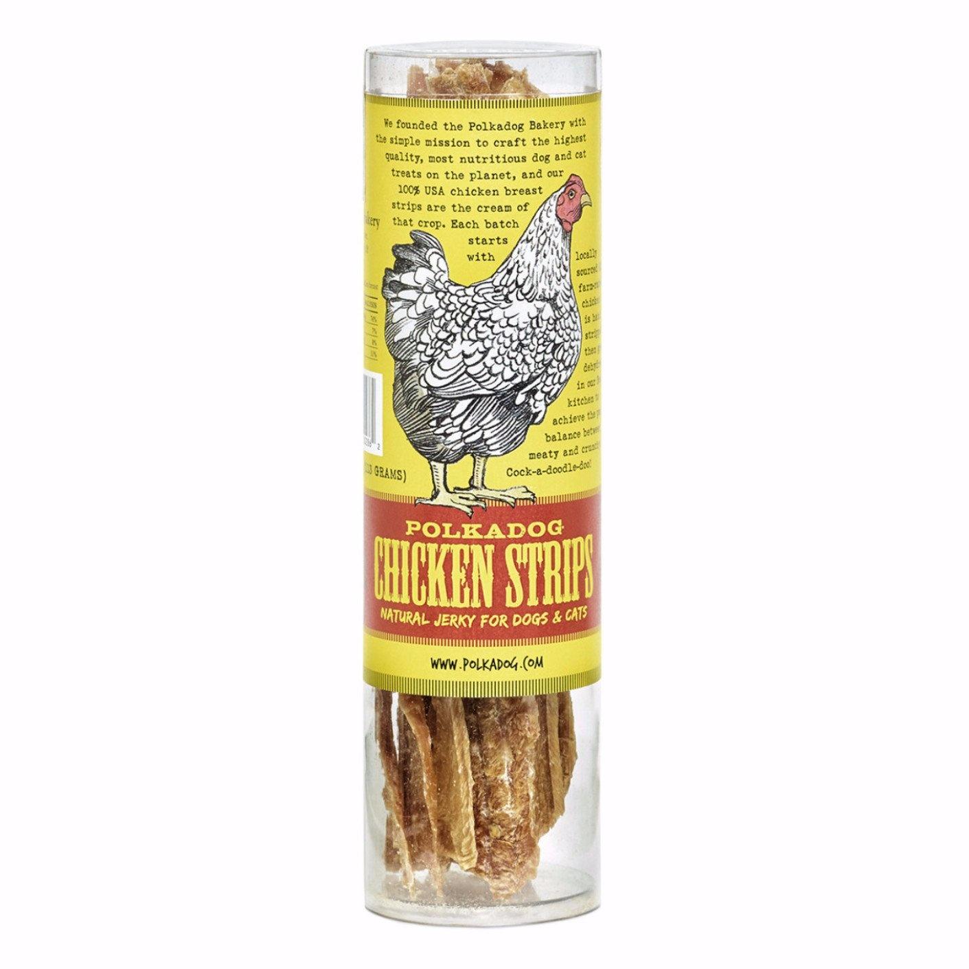 Polkadog PolkaDog Chicken Strip Jerky Tube 4oz