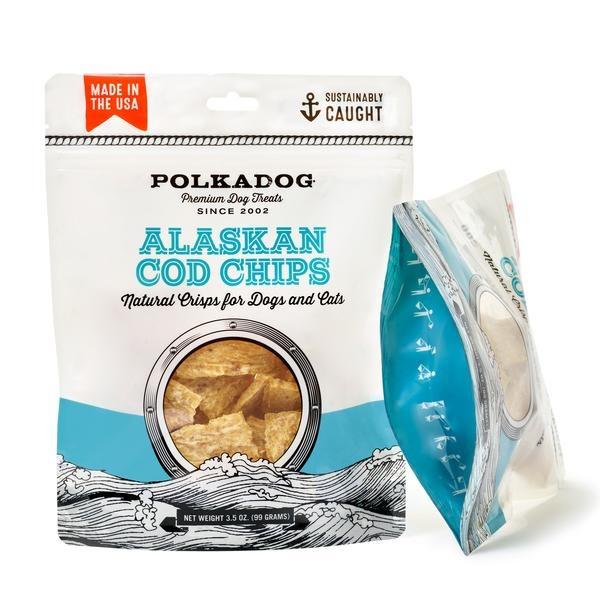 Polkadog PolkaDog Alaskan Cod Chips 3.5oz