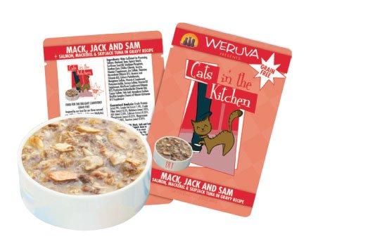 Weruva Weruva Cat Mack, Jack & Salmon Pouch 3oz
