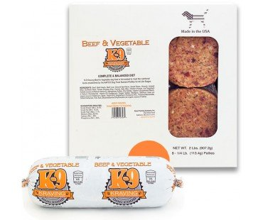 K9 Kravings K9 Kraving Beef & Veg Patties 2#