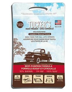 Tucker's Tucker's Frozen Food Beef & Pumpkin 6#