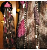 Gypsy Magician Hair Falls M feathers & cowries