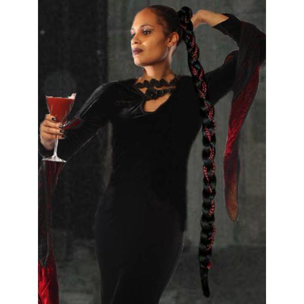Rapunzel Braid Extra wine red black