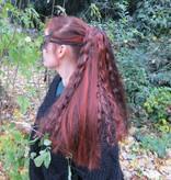 Goth Hair Fall M wild style, black white