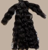Curly Hair Piece M - Color 1 black