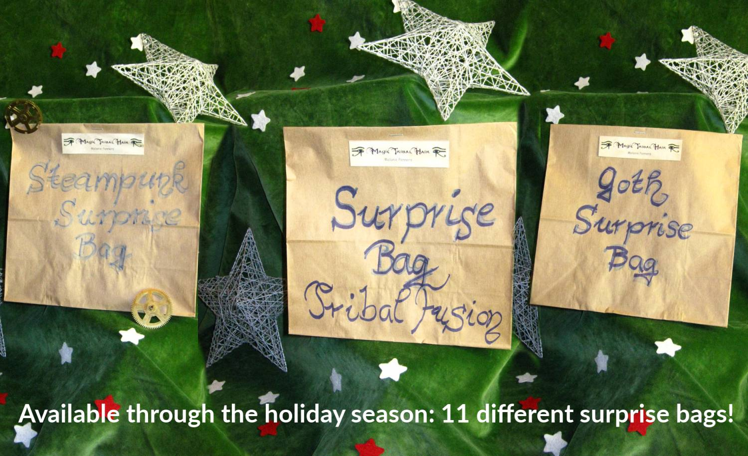 All surprise bags available for the holidays!