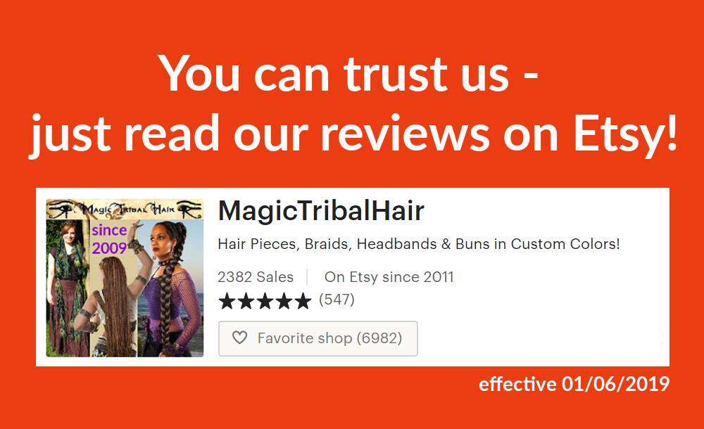 Our reviews on Etsy!