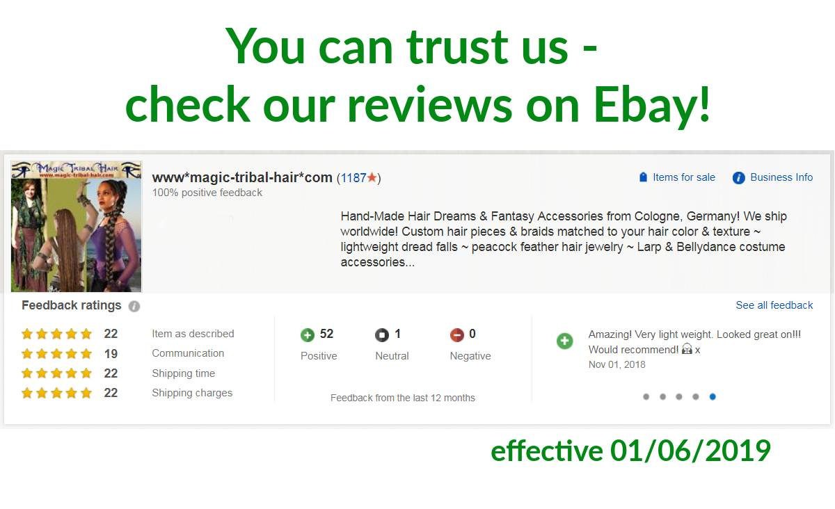 Our reviews on Ebay!