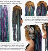 Fine blonde-brown clip-in dreads