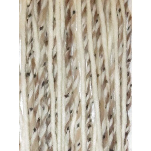 Clip-in dreads snow leopard