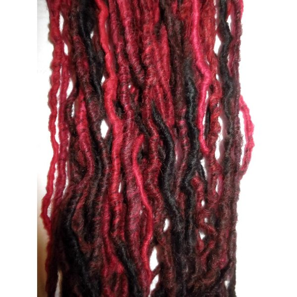 Clip-In Dreads Red Passion - limited edition