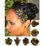 Steampunk Hair Flower Set bronze, 2-6 pcs