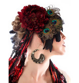 Peacock Feather Headpiece Red Passion Peacock