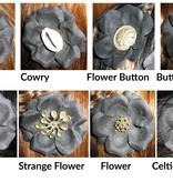 Black Tribal Flowers Set, 2, 3, 4, 5 or 6 pcs