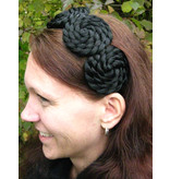 Hair Rosettes, braided & twisted, small