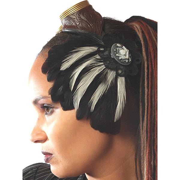 Gothic Fascinator Snow White