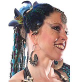 Feather Fascinator Blue Mermaid
