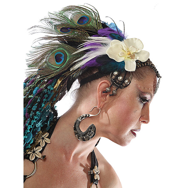 Peacock Feather Headpiece Paradise