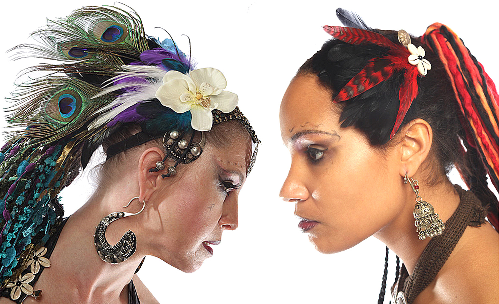 NEW! Colorful Feather Headpieces