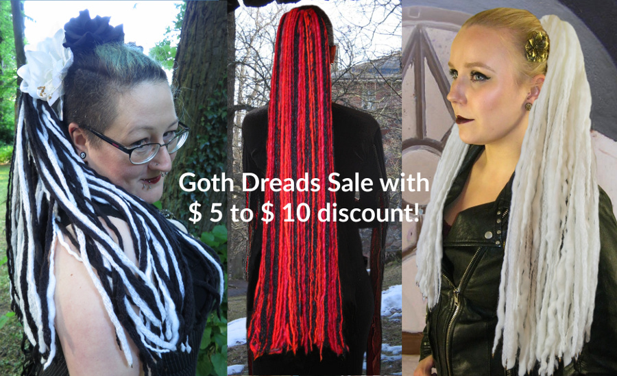 Goth Dreads Sale - $5 to $10 OFF!