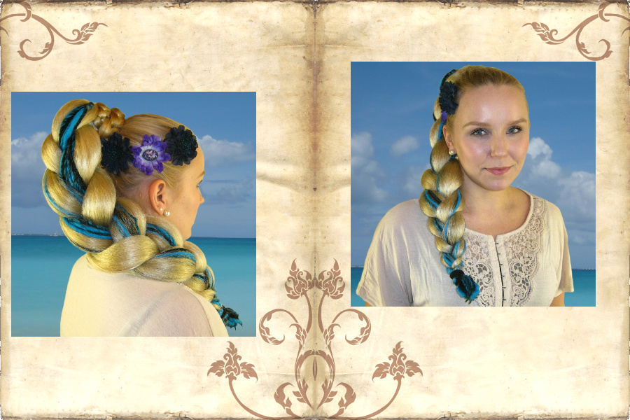 Diva beach braid look with dreadlocks extensions!
