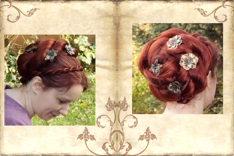 Lush rose hair bun - easy styling with twist braid hairpiece!