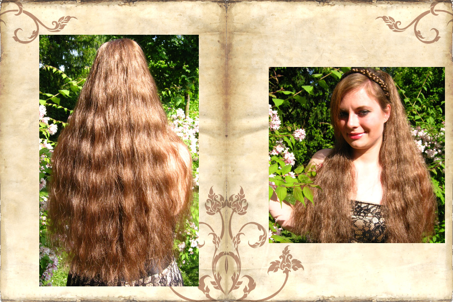 Long & lush, wavy hair falls - gorgeous volume!