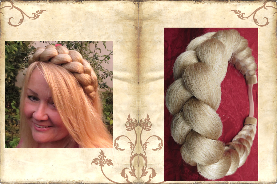 Extra thick braided headband model Gretel!
